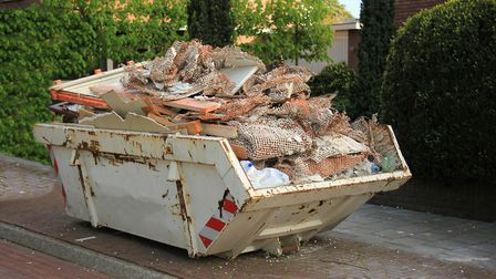 Anyone who's anyone has a skip outside their house...