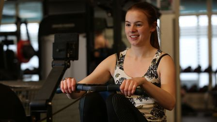 The Herts Advertiser's Franki Berry at the Nuffield Health Fitness and Wellbeing Gym. Picture: Danny