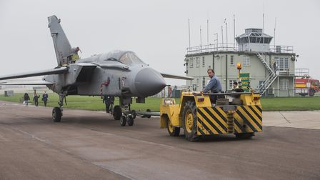 Tornado GR-4 ZA469/029 moving from Airspace Conservation Hangar to Hangar 4 at IWM Duxford. [Pictur