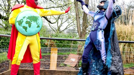 Captain Z and Plastico at ZSL Whipsnade Zoo.