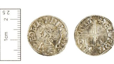 One of the coins dating back to the reign of Aethelred the Unready