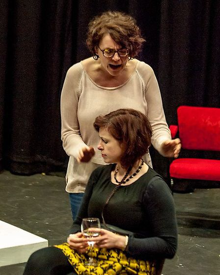 Rehearsal photograph of The Argument at The Abbey Theatre in St Albans. [Picture: Nick Clarke]