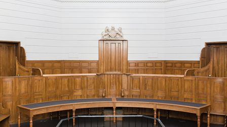St Albans Museum historic courtroom.