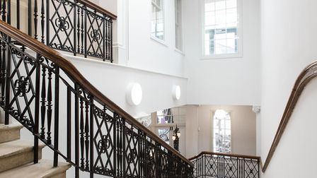 St Albans Museum grand staircase.