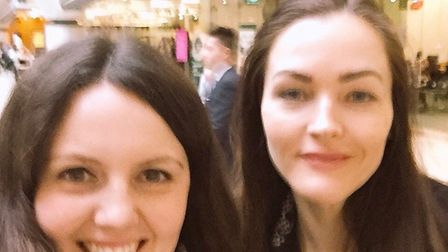 Lisa Sinnott (left), founder of Albany Pet Services and Marisa Heath of the All Party Parliamentary