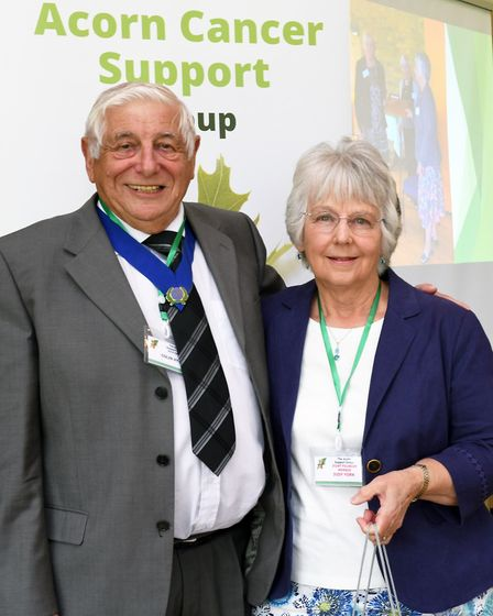 Colin Hyams, vice-chairman of the Acorn Cancer Support Group, with Judy York, co-founder and truste