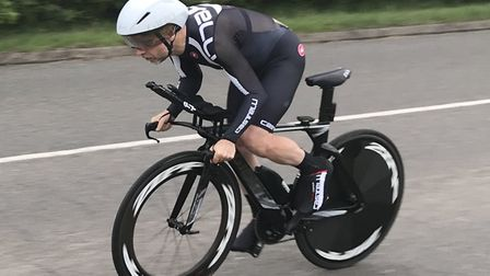 Tim Phillips won the second St Ives Cycling Club time trial of the summer.