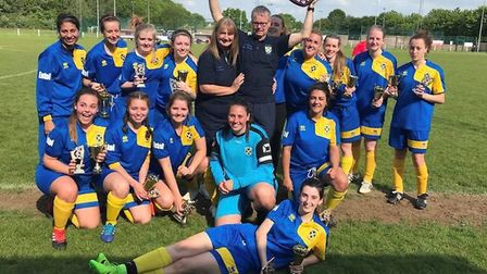 St Albans Ladies clinched the league and cup double by winning the league cup.