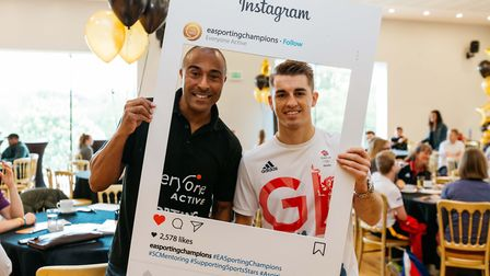 Olympic gold medallist Colin Jackson mentored athletes at Westminster Lodge Leisure Centre in St Alb