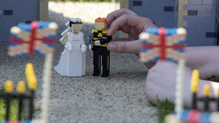 A scene created at LEGOLAND's Windsor resort depicting the forthcoming wedding of Prince Harry and M