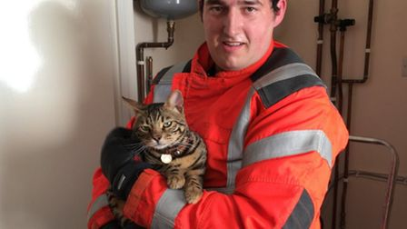 Felix was rescued by a member of the crew