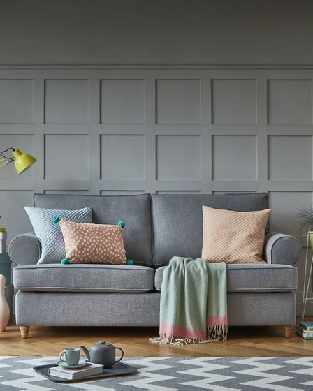 A peach of a colour: Buttermere sofa bed in Country Linen Zinc, from £1,183, Willow & Hall (Picture