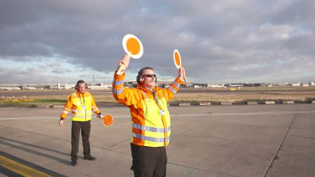 Ian Hawkins, with his manager Simon Newbold. Picture: Heathrow: Britain's Busiest Airport