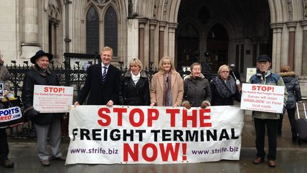 Anne Main with campaigners at High Court
