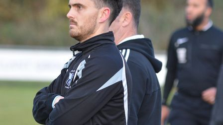 Chris Hyem during his time as player-manager of Godmanchester Rovers during the 2016/17 season.