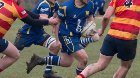 Gabriel Edwards scored four tries for St Ives Roosters. Picture: PAUL COX