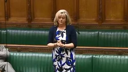 St Albans MP Anne Main speaking in the House of Commons on Monday, May 21.