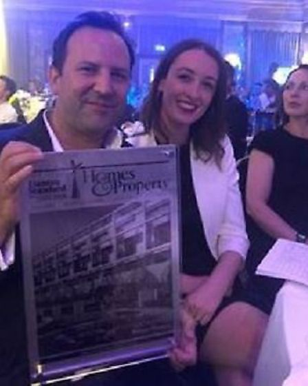 Antony Crovella, Sales and Marketing Director at Meyer Homes, picking up Gabriel Square's Best Out o