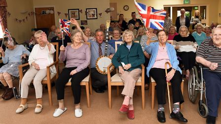 Residentss of the Hillings, Eaton Socon, celebrate the Royal Wedding