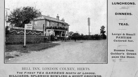 Pictures from the London Colney archive. Bell Inn (now Macdonalds)