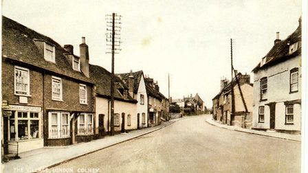 Pictures from the London Colney archive. Street, London Colney, 1928.