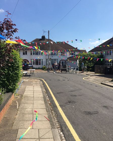 Street party in Edward Close (picture: Josie Madoc)