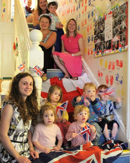 Acorns Nursery pupils getting ready for the Royal Wedding (Picture: Oaklands College).