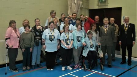 Members of the Heron Club based in St Ives took part in the disability games event. Picture: CONTRIB