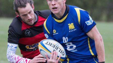 Pete Fahey scored one of the St Ives tries as they beat Dunstablians. Picture: PAUL COX