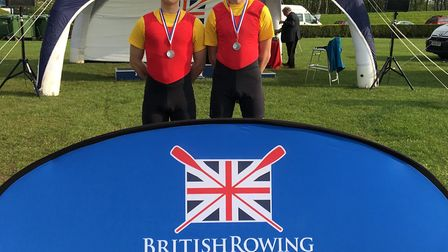 St Ives Rowing Club duo Sam Hasted and Rory Crouch.