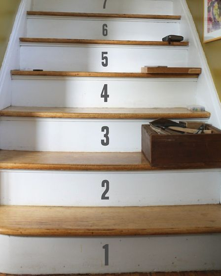 Counting steps: These number stickers from Oakdene Designs add a touch of novelty (www.oakdenedesign