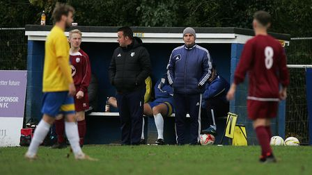 Danny Plumb was a proud manager after Harpenden Town's League Cup success. Picture : Karyn Haddon.