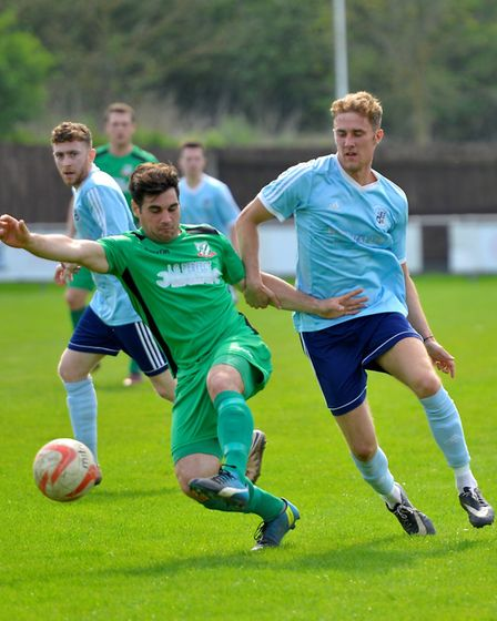 Jack Chandler struck from the penalty spot as Godmanchester Rovers beat Gorleston. Picture: DUNCAN L