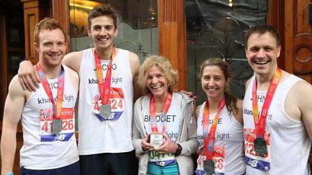 The Khandel Light runners with their medals. Picture: Khandel Light