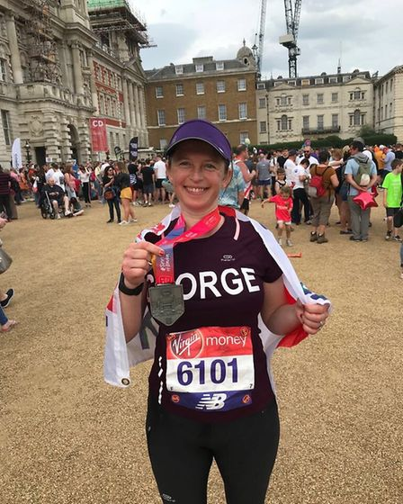 Georgina Bowman with her medal. Picture: Courtesy of Georgina Bowman