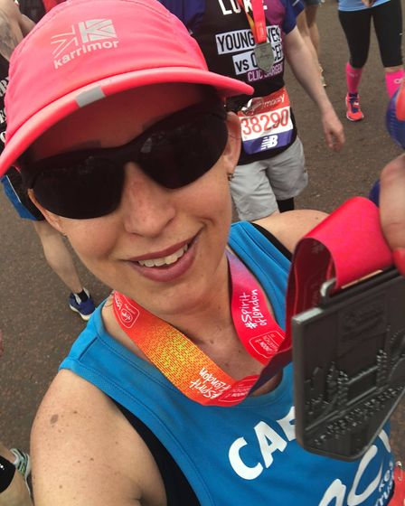 Carrie Taylor with her medal. Picture: Carrie Taylor