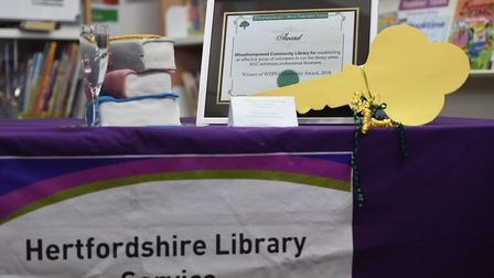 A presentation to the Wheathampstead Community Library to celebrate the handover from Herts county c