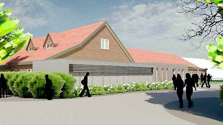 An artist's impression of the proposed new centre.