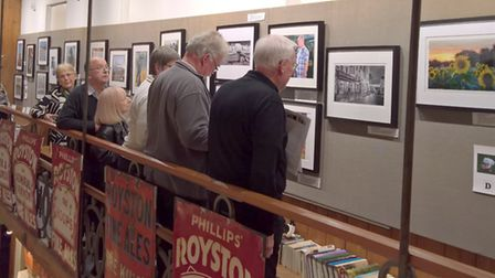 Guests and members viewing some of the RPS exhibits. Picture: David Hatton