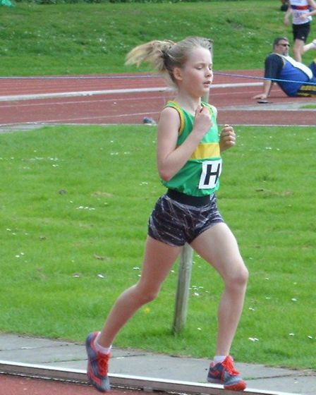 Caitlan Burke was a double-winner for the Hunts AC Under 13 Girls team.