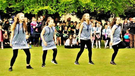 GStars dancers put on a show at last year's May Fayre. Picture: Clive Porter