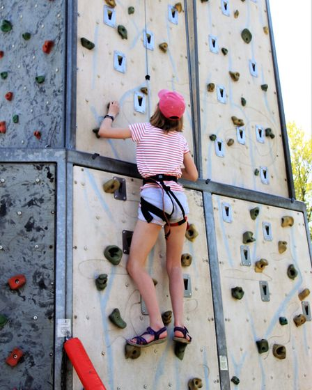 The climbing wall. Picture: Clive Porter