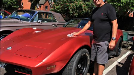 Steve Jones from Enfield gives his 1978 5.7 V8 Corvette Stingray, which was imported from Canada tw