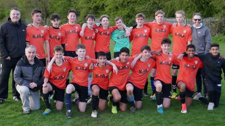 Harpenden Colts U16 Blues sealed the West Herts Youth League Division Two title with a 4-0 win over