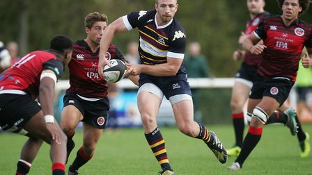 Old Albanians Dan Watt scored one of the Hertfordshire tries away to Gloucestershire. Picture: Karyn