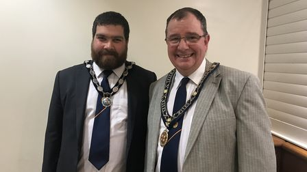 The mayor of St Ives Councillor Tim Drye (Right) with the Deputy mayor Councillor Daniel Rowe
