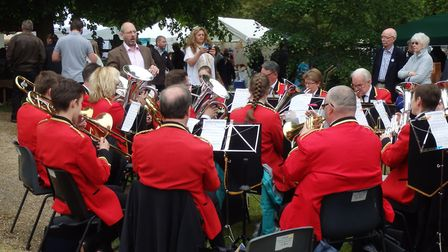 Royston Town Band entertained the crowds. Picture: Edwin Kilby