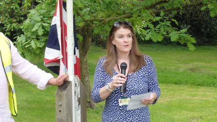 County councillor Fiona Hill officially opened the event. Picture: Edwin Kilby