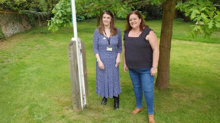 Barkway county councillor Fiona Hill with new market co-ordinator Nicola Cook. Picture: Edwin Kilby