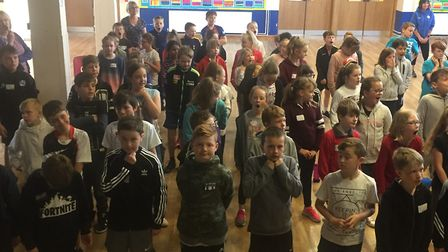 Pupils from Roysia and Greneway took part in team-building activities. Picture: Greneway